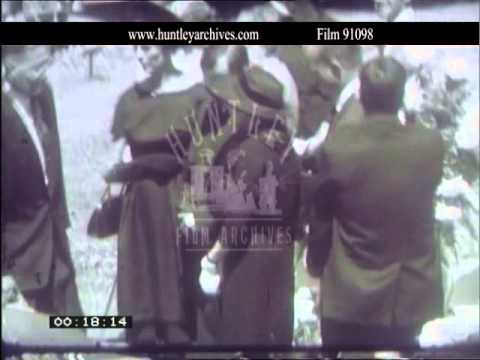 Ernest Hemingway funeral in 1961.  Film 91098