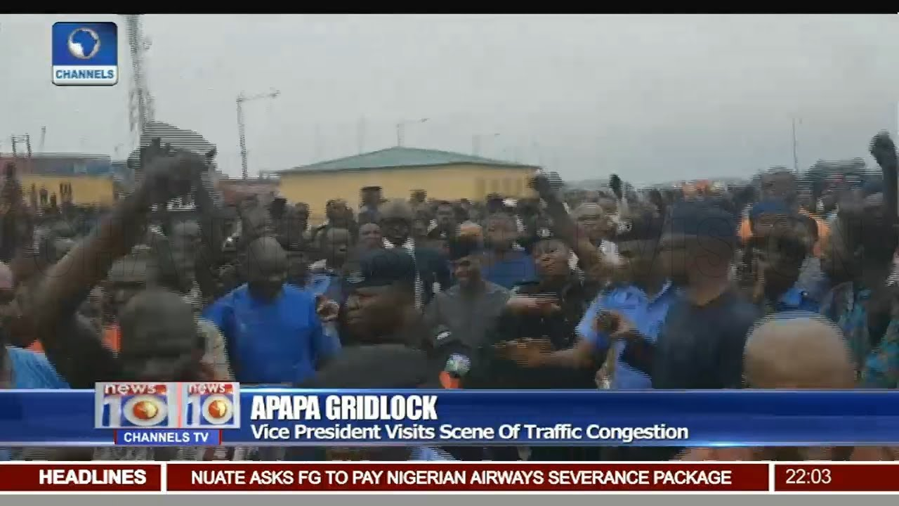 Osinbajo Visits Scene Of Apapa Traffic Congestion
