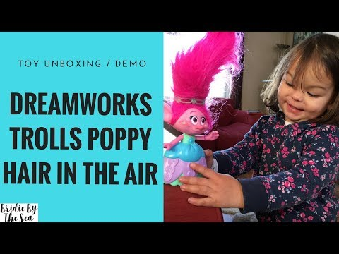 DREAMWORKS TROLLS POPPY HAIR IN THE AIR TOY REVIEW/DEMO | BRIDIE BY THE SEA