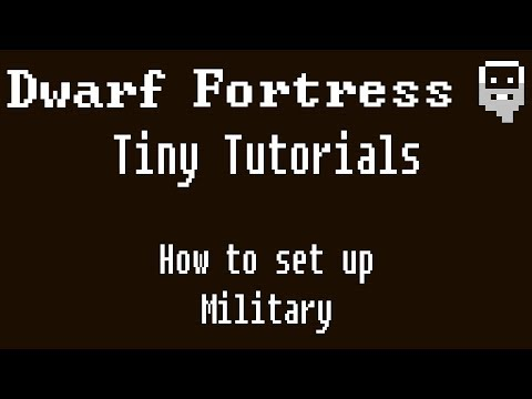 Dwarf Fortress Tiny Tutorials: How to setup your military