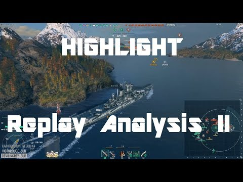 Highlight: Replay Analysis 2 - Hipper, Des Moines, Kagero &
