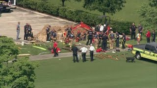 Man trapped after trench collapse in NW Harris County