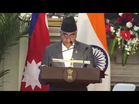 Exchange of Agreements & Press Statements: State Visit of Prime Minister of Nepal to India