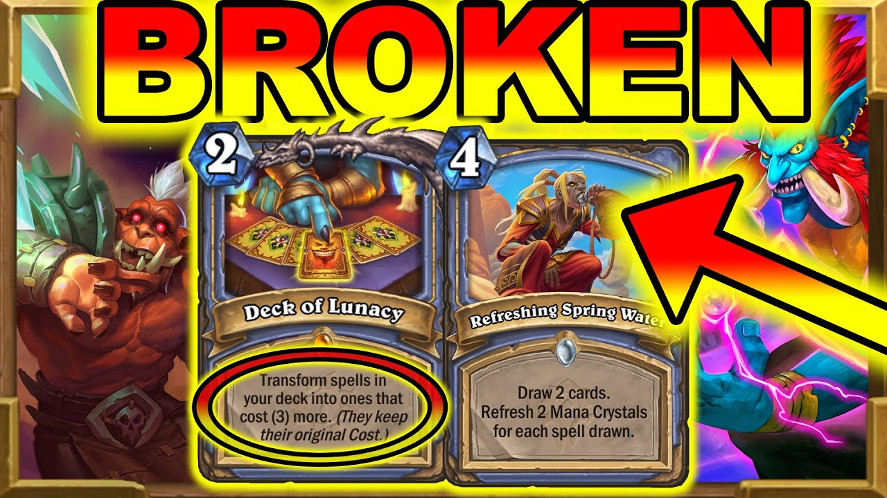 No Minions Mage Is Still BROKEN? Was Deck of Lunacy Nerf Effective? Barrens New  | Hearthstone