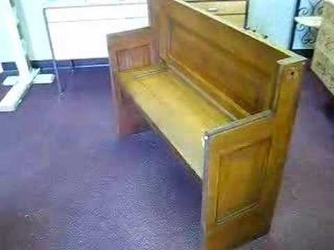 & bench made of antique farmdoor repurposed envirosponsible - YouTube