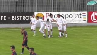 I quattro gol dell'Olbia al San Cesareo