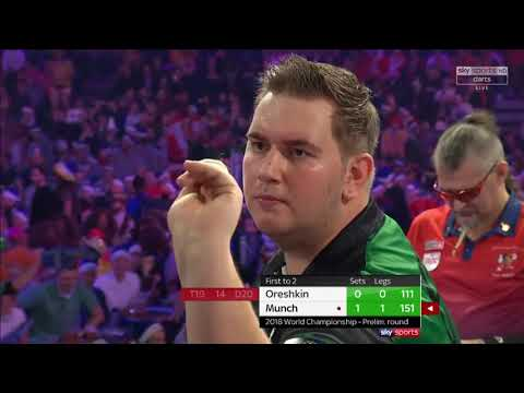 Munch vs Oreshkin. World Darts Championship.