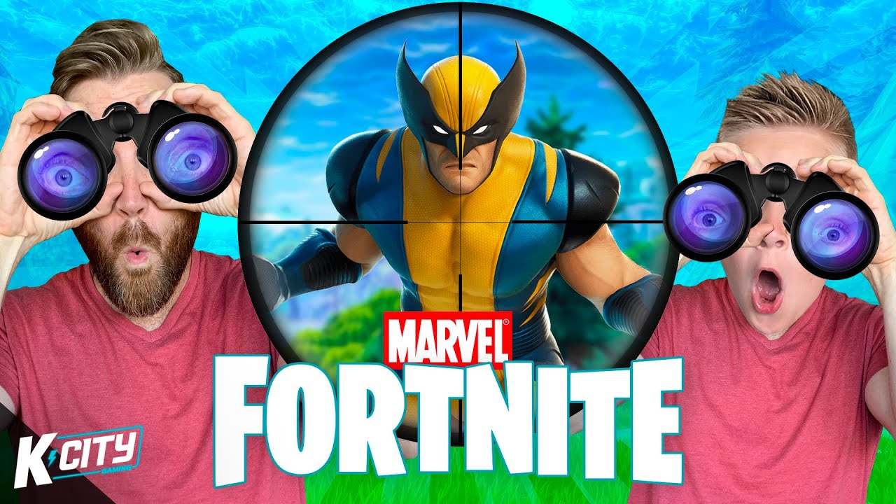 Hunting for WOLVERINE in Marvel FORTNITE DUOS // K-CITY GAMING