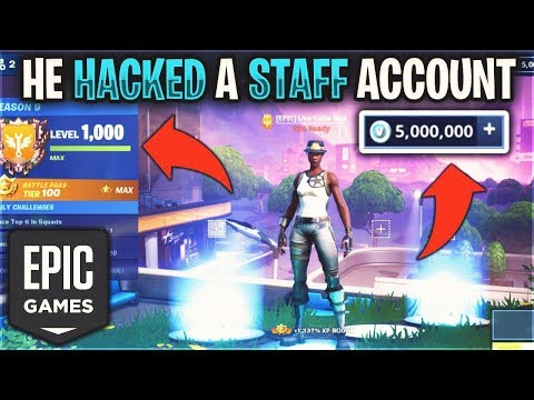 He HACKED A EPIC GAMES Staff Account And Got 5 MILLION VBUCKS And INFINITY GAUNTLET…