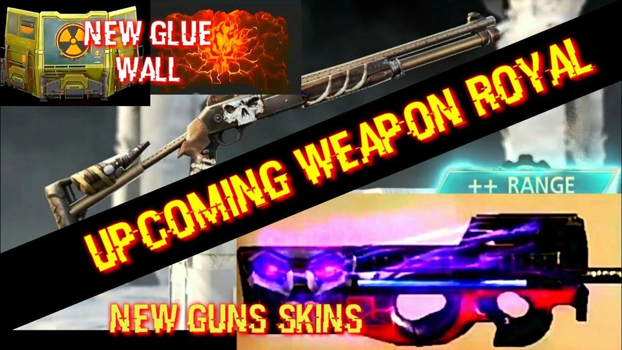 Next Weapon Royal? New Guns Skin - P90,Ak | 2 New Glue Walls Skins | Upcoming Updates FF | PGG ?