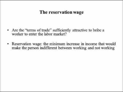 Labor Economics lecture 2 -- Worker utility and labor supply