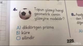 Geometrik Cisimler Test 3. Sınıf Matematik