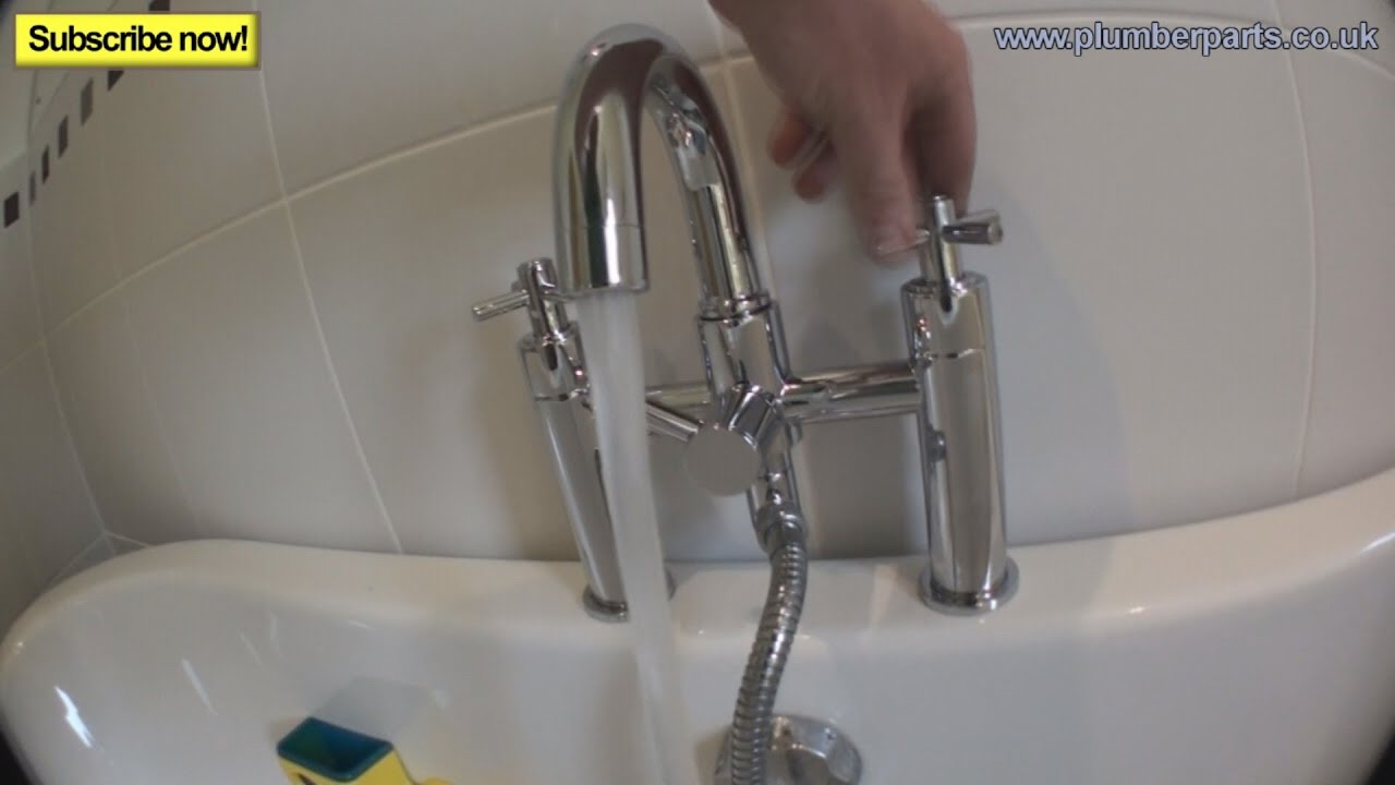 HOW TO FIT A BATH TAP - Plumbing Tips - YouTube