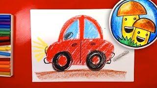 Как нарисовать МАШИНУ урок рисования для малышей
