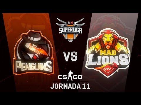 PENGUINS VS MAD LIONS E.C. - MAPA 2 - SUPERLIGA ORANGE - #SUPERLIGAORANGECSGO11