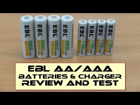 EBL AA 2800mAh/AAA 1100mAh/Charger - Review and capacity test