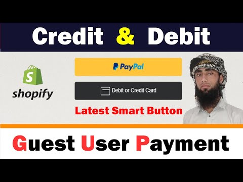 Paypal Credit And Debit Card Payment Smart Checkout Buttons For Guest User | Use For Shopify