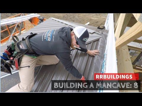 Building a Mancave 8: Porch roof and trim details