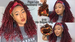 VLOG   Must Have Amazon Headband Wig Haul Cheap Synthetic Lace Front Wigs Show & Tell