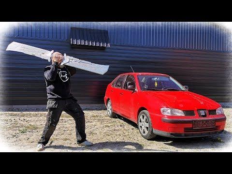 Giant Thanos Sword vs Car