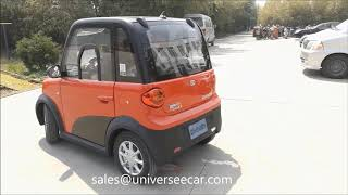 mini sedan electric car for 2 or 4 passengers