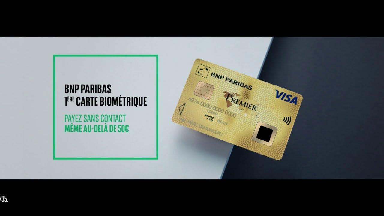 """Musique pub BNP Paribas – 1ère carte biométrique """"la banque d'un monde qui change""""  2021"""