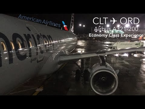 TRIP REPORT | American Airlines | Charlotte To Chicago | Airbus A321 | Economy Class Experience