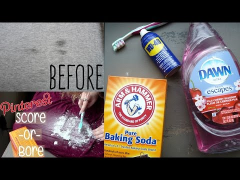 GET GREASE STAINS OUT OF CLOTHING WITH HOUSEHOLD ITEMS?