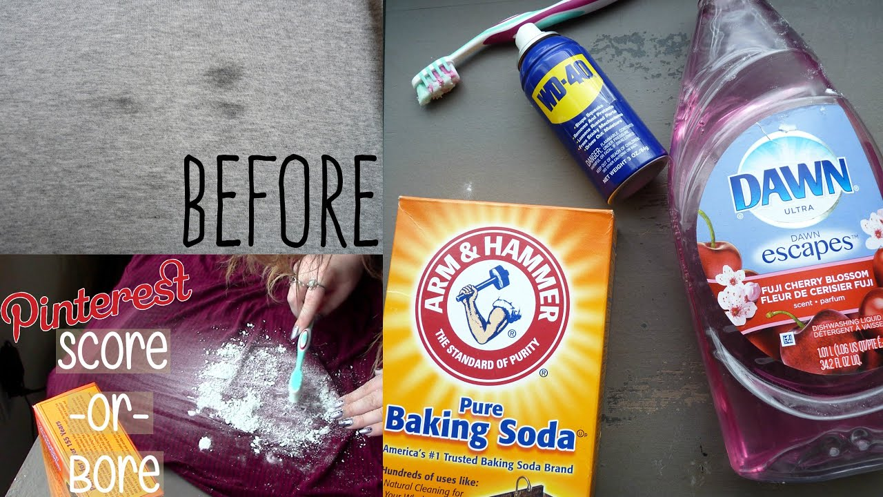 Get Grease Stains Out Of Clothing With Household Items Youtube