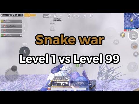 Final Circle Level 1 Snake Vs Level 99 Snake | PUBG Mobile