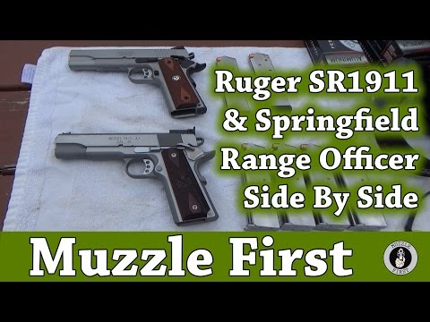 Shooting The Ruger SR1911 & Springfield Range Officer Side By Side