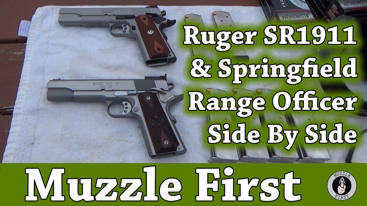 Shooting The Ruger SR1911 & Springfield Range Officer Side By Side