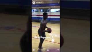 zion dunk from free throw line