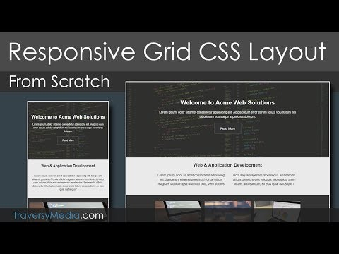 """Grid CSS Responsive Website Layout - """"Mobile First"""" Design"""