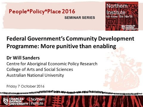 Federal Government's Community Development Programme: More punitive than enabling