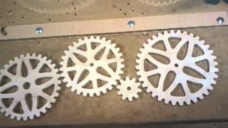 Cutting A 72 Tooth Wooden Gear