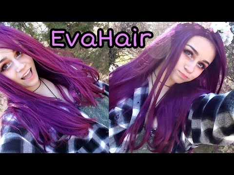 DEEP FUCHIA WIG FROM EVAHAIR REVIEW!! | Kylie The Jellyfish