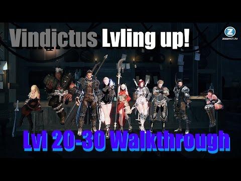 Vindictus Lvling Up 20 - 30 Walkthrough No NX EXP Items W/Commentary