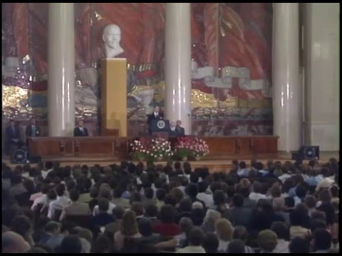 President Reagan's Address and Q & A Session at Moscow State University, USSR, May 31, 1988