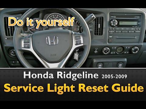 Honda Ridgeline Service Light Oil Life Reset 2005 2009