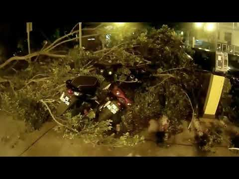 "Macau Typhoon Hato ""before the destruction"""