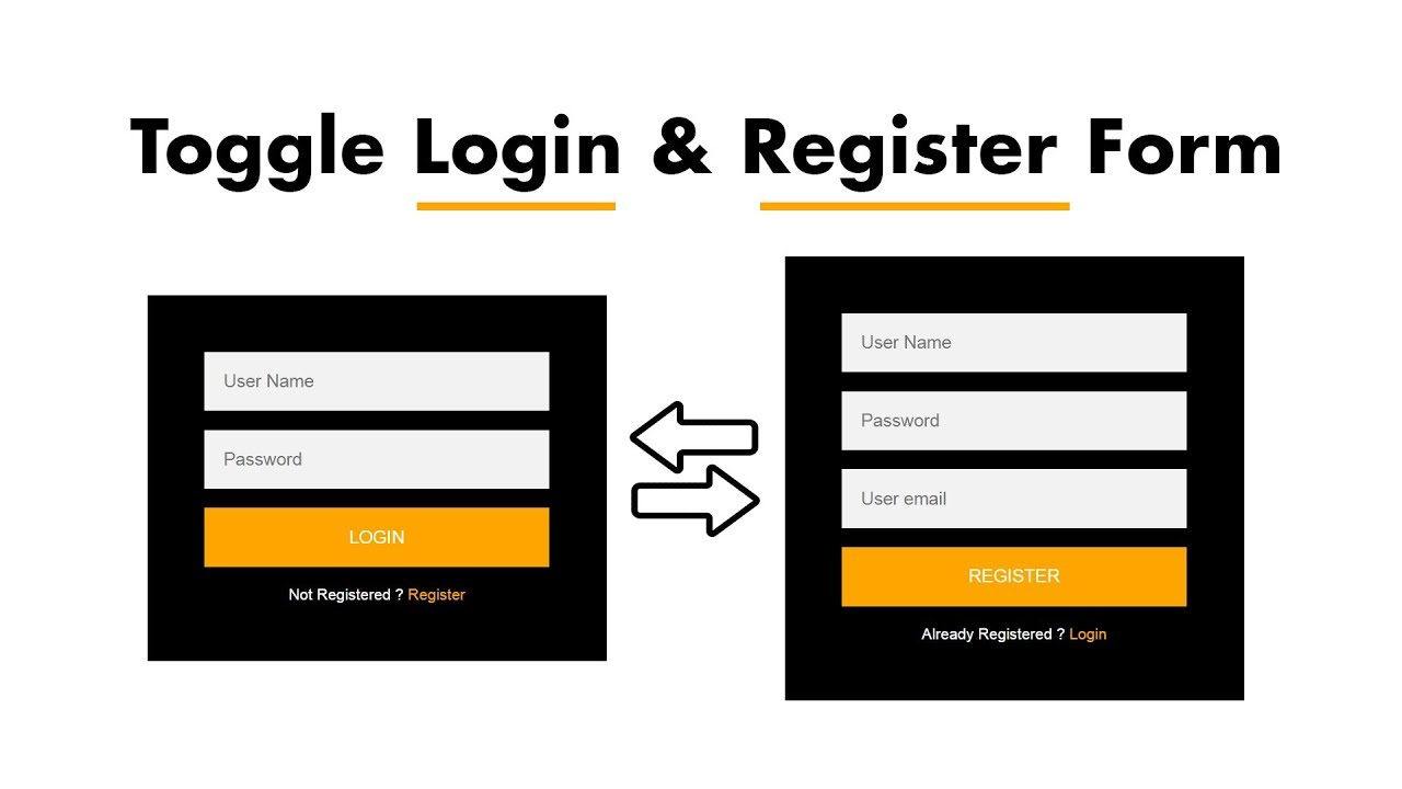 How To Make Login And Registration Form Using HTML And CSS With Toggle Option