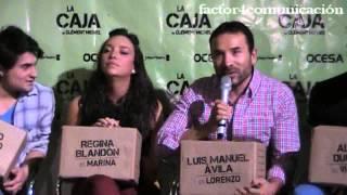 Regina Blandón, Luis Manuel Ávila y Ricardo Polanco estrenan