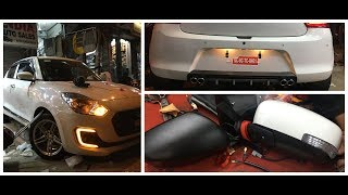 MARUTI SUZUKI SWIFT LXI CONVERTED INTO ZXI || TOP MODEL SIDE MIRROR INSTALL II HID || COMPONENTS Video