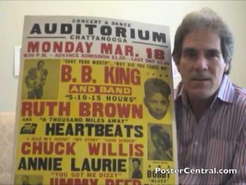 B.B. King Concert Posters 1950s Blues, R&B Window Cards