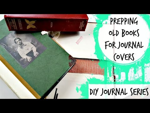 DIY Journal Series: Using a Repurposed Book as a Cover