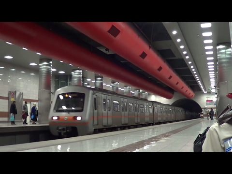 Greek railways -  At Keramikos station, line 3 of Athens Metropolitan railway