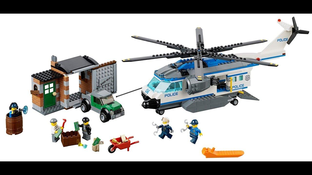 Lego city helic ptero de polic a lego juguetes infantiles youtube - Lego camion police ...