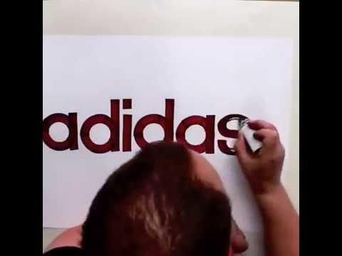 Best Brand Drawing! Seb Lester Drawing   Logos   Adidas, Nike,...