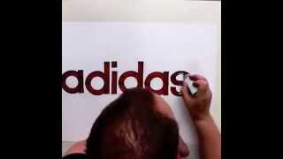 Best Brand Drawing! Seb Lester Drawing | Logos | Adidas, Nike,...